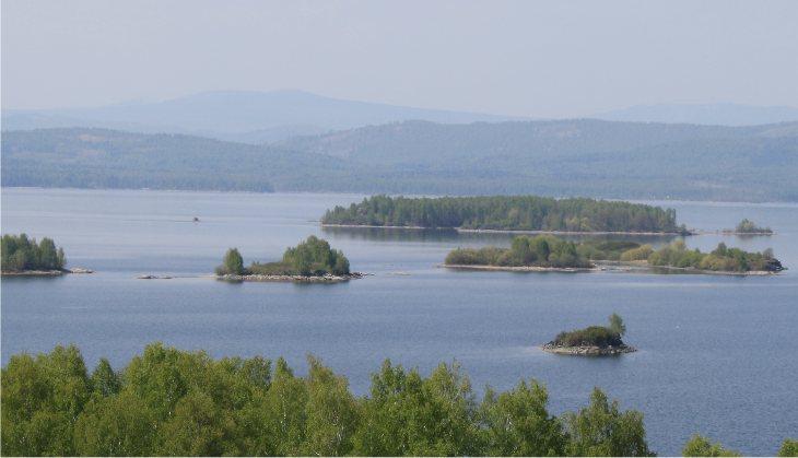 Аргазинское водохранилище, фото с д. Аргази